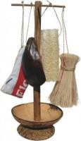 Natūralus indų plovimo reikmenų krepšelis