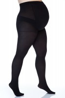 Pėdkelnės apkūnioms nėščiosioms Size+ 3D 50den (juoda 3)