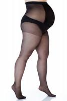 Pėdkelnės apkūnioms nėščiosioms Size+ 17den (lycra)