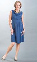 Suknelė nėščiai - maitinančiai MIA mėlyna, raudona