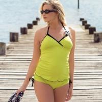 Tankini maudymosi kostiumėlio palaidinė nėštukei BORA BORA ANISE (UPF 50+ UV apsauga)