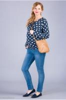 Klasikiniai džinsai nėščiai slim CALIFORNIA Blue