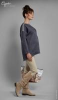 Stilinga palaidinė su džinso imitacija CARLA L/XL