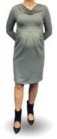 Elegantiška medvilninė suknelė nėščiai VICTORIA Graphite / M
