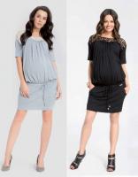 Universali suknelė - tunika nėštukei BATILLY juoda, pilka