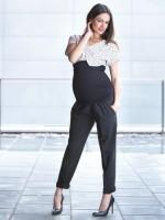 Juodos kelnės su kantu nėštukei EROL / XS S