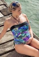 Vientisas maudymosi kostiumėlis nėščiai ir maitinančiai JUNGLE (UPF 50+ UV apsauga)