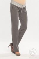 Klasikinės minkšto audinio tiesios kelnės nėštukei LIMON grey