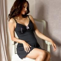 Stilingi naktiniai su integruota maitinimo liemenėle LISA Black