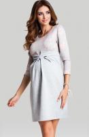 Šilta elegantiška suknelė nėščiai MARSHMALLOW / L XL