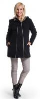 Žieminis paltukas su vilna nėščiai ir po nėštumo CASMIRO Black