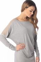 Pilka suknelė nėščiai SPENSA (tinka ir po nėštumo) / S