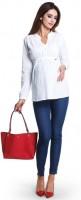 Marškiniai nėščiai - maitinančiai DELICIA White