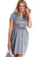 Elegantiška suknelė nėštukei PRINCESS grey