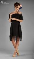 Ispaniško stiliaus suknelė nėštukei CARMEN Black / M