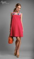 Spalvinga suknelė nėščiai MADDISON Coral (tinka ir po nėštumo)
