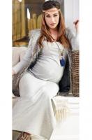 Stilinga maxi suknelė nėščiai LONG RELAX melange