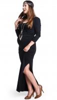 Stilinga maxi suknutė nėščiai LONG RELAX black / XS XXL
