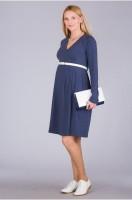 Medvilninė suknelė nėščiai - maitinančiai CHARLIZE Navy