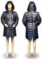 Stilinga šilta universali žieminė striukė nėštukei GRAZIA granat (pritaikyta dėvėti ir po nėštumo)