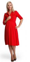 Suknelė nėščiai - maitinančiai LEVINA RED / XL