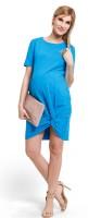 Stilinga medvilninė tunika nėščiai - maitinančiai TWISTER lazur