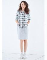 Suknelė tunika PINEAPPLE CRAZY (tinka nėščiai ir maitinančiai)