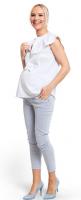 Prigludusios kelnės nėščiai iki kauliukų BLUE LAGOON (Slim)