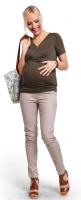 Prigludusios kelnės nėščiai CANDY BEIGE