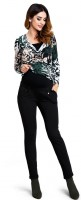 Stilingos kelnės nėščiai SUGAR Black