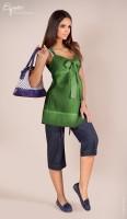 Lininė palaidinė nėščiai AMELIA Green / S M