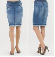Džinsinis sijonas nėščiai ir po nėštumo SABA blue / XL