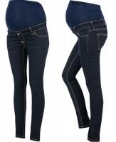 Itin tamprūs džinsai nėštukei skinny INDIGO tamsiai mėlyna