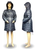 Stilinga šilta universali žieminė striukė nėštukei GRAZIA navy (pritaikyta dėvėti ir po nėštumo) / SM