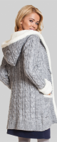 Šiltas megztukas su lanos ir mohair vilna NORDIC Grey
