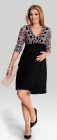 Elegantiška suknelė nėščiai - maitinančiai HYPNOSE Pink