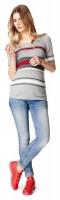 NOPPIES tamprūs džinsai nėščiai skinny LIGHT BLUE