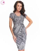 Suknelė nėščiai - maitinančiai HOLLY NEW II Granat pattern