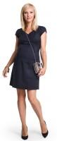 Elegantiška žakardo suknelė nėščiai BELLISSIMA Black / M