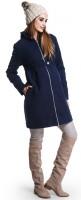 Žieminis paltas su vilna nėščiai ir po nėštumo MUMMY NAVY / XL