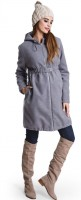 Žieminis paltas su vilna nėščiai ir po nėštumo MUMMY GREY / XXL