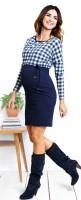 Suknelė nėščiai - maitinančiai VICHY Navy