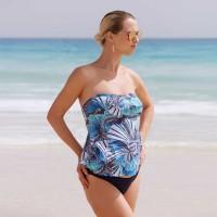 Tankini maudymosi kostiumėlis nėštukei PANDORA (UPF 50+ UV apsauga) / Prancūzija
