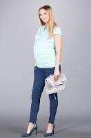 Stilingos minkšto audinio kelnės dirbančiai nėštukei BOLOGNA Dark Blue