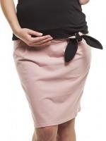 Stilingas pieštuko silueto medvilnės sijonas nėščiai ROSE Pink