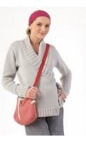 Trumpas susiaučiamas megztukas nėščiai - maitinančiai EKO Grey