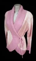 Rožinis megztinis su vilna nėštukei - maitinančiai