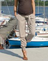 Stilingos vasarinės kelnės nėštukei LIVAN beige / XS