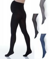180DEN šiltos storos pėdkelnės nėštukei iš minkštos medvilnės / juoda, grafito, pilka, mėlyna
