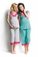 Pižama nėščiai - maitinančiai LEBBY lagoon, pilka / XS S